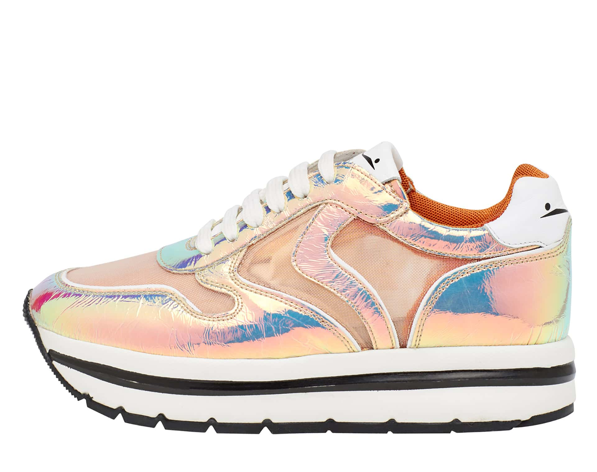 MAY MESH - Sneakers in pelle e rete - Rosa/Bianco/Arancio