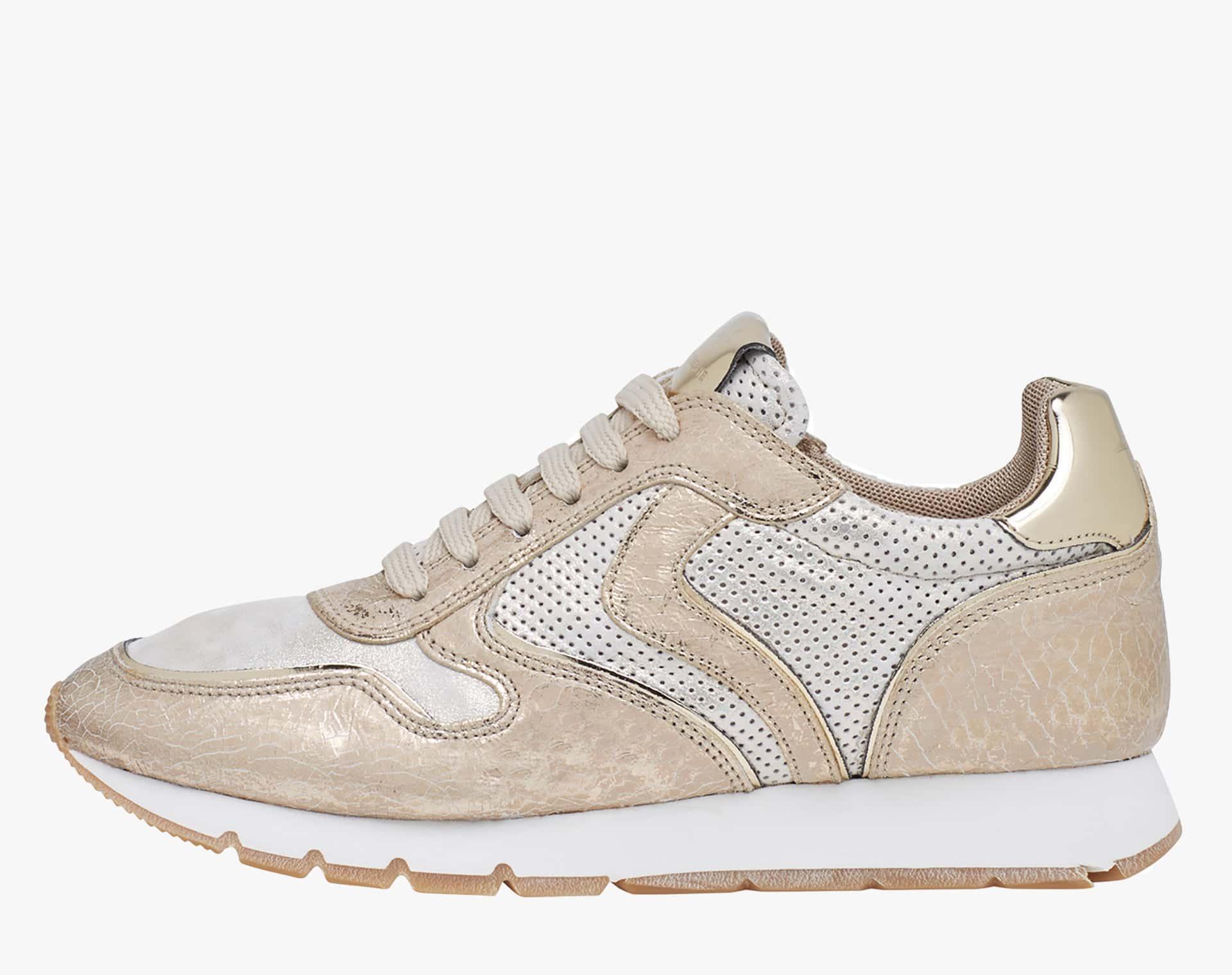 JULIA - Sneakers in pelle - Platino