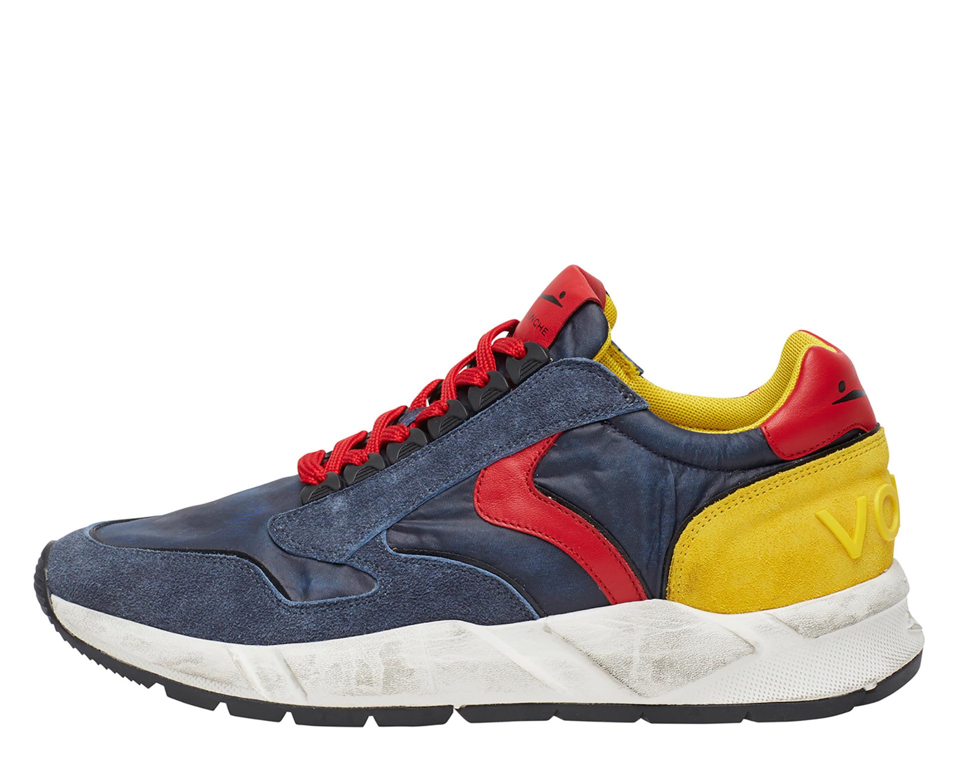 ARPOLH EYELET - Sneakers in pelle e tessuto - Blue/Rosso/Giallo