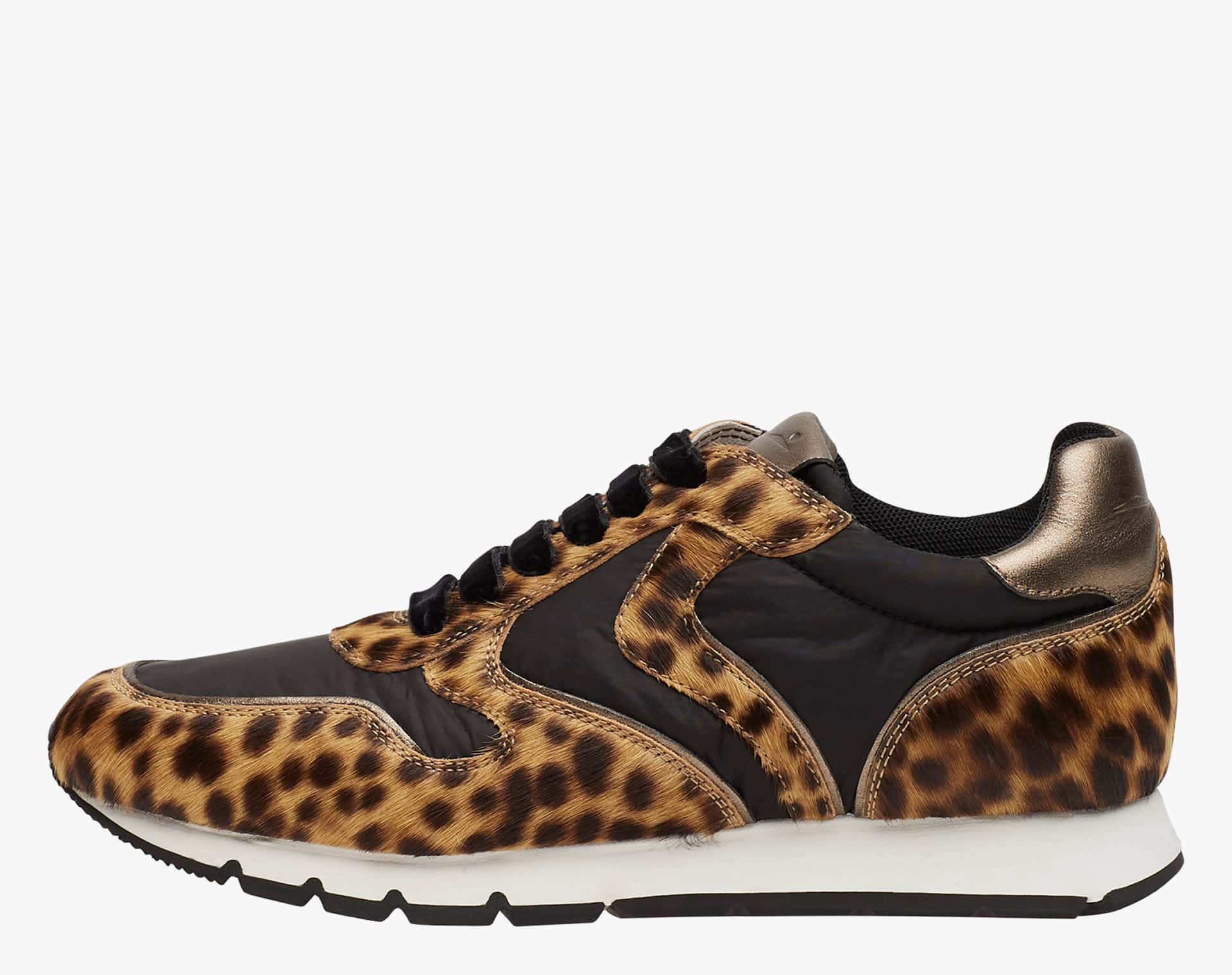 JULIA - Sneakers in pelle e nylon - Animalier