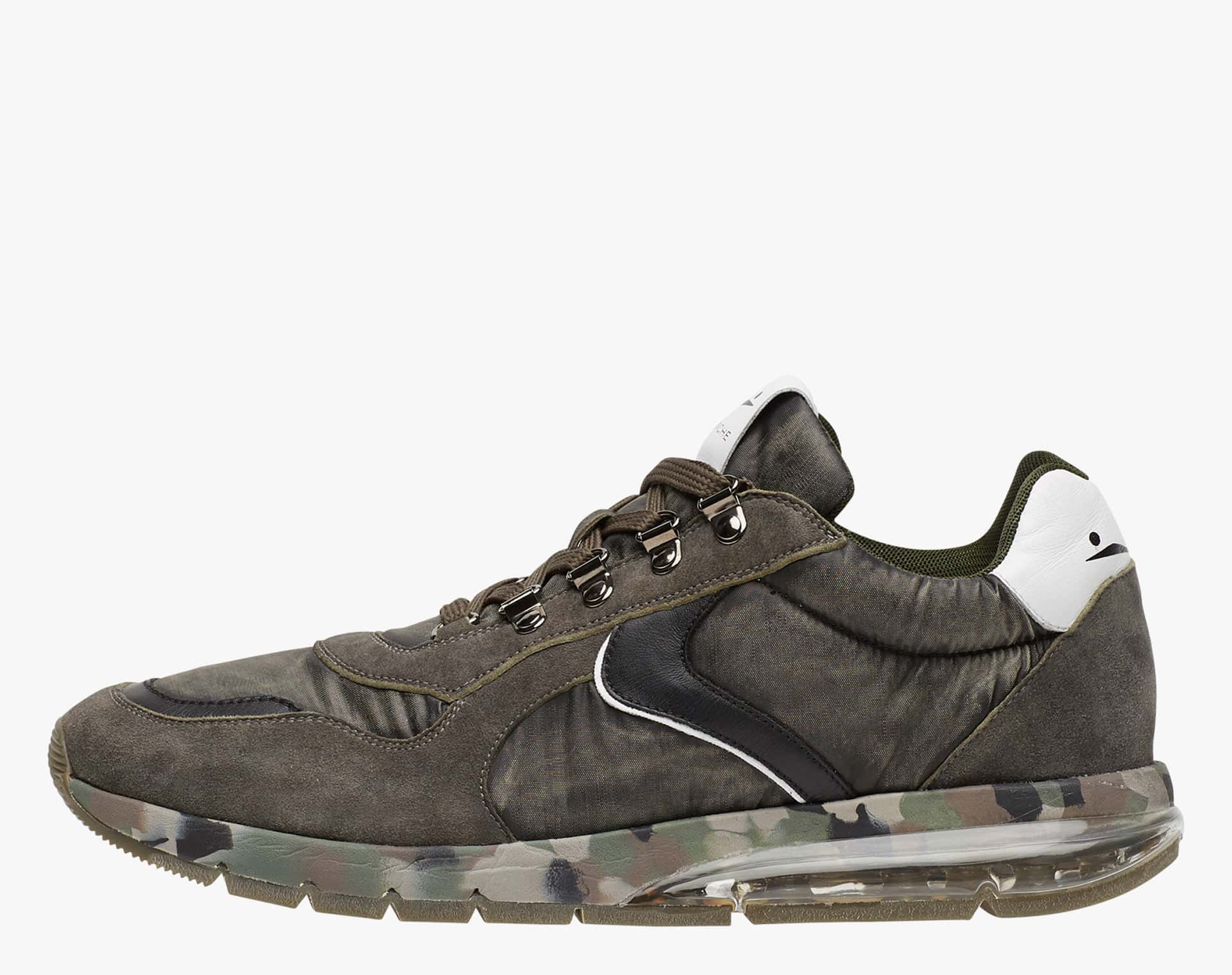 NEW LENNY HOOK - Sneakers in pelle e nylon - Militare