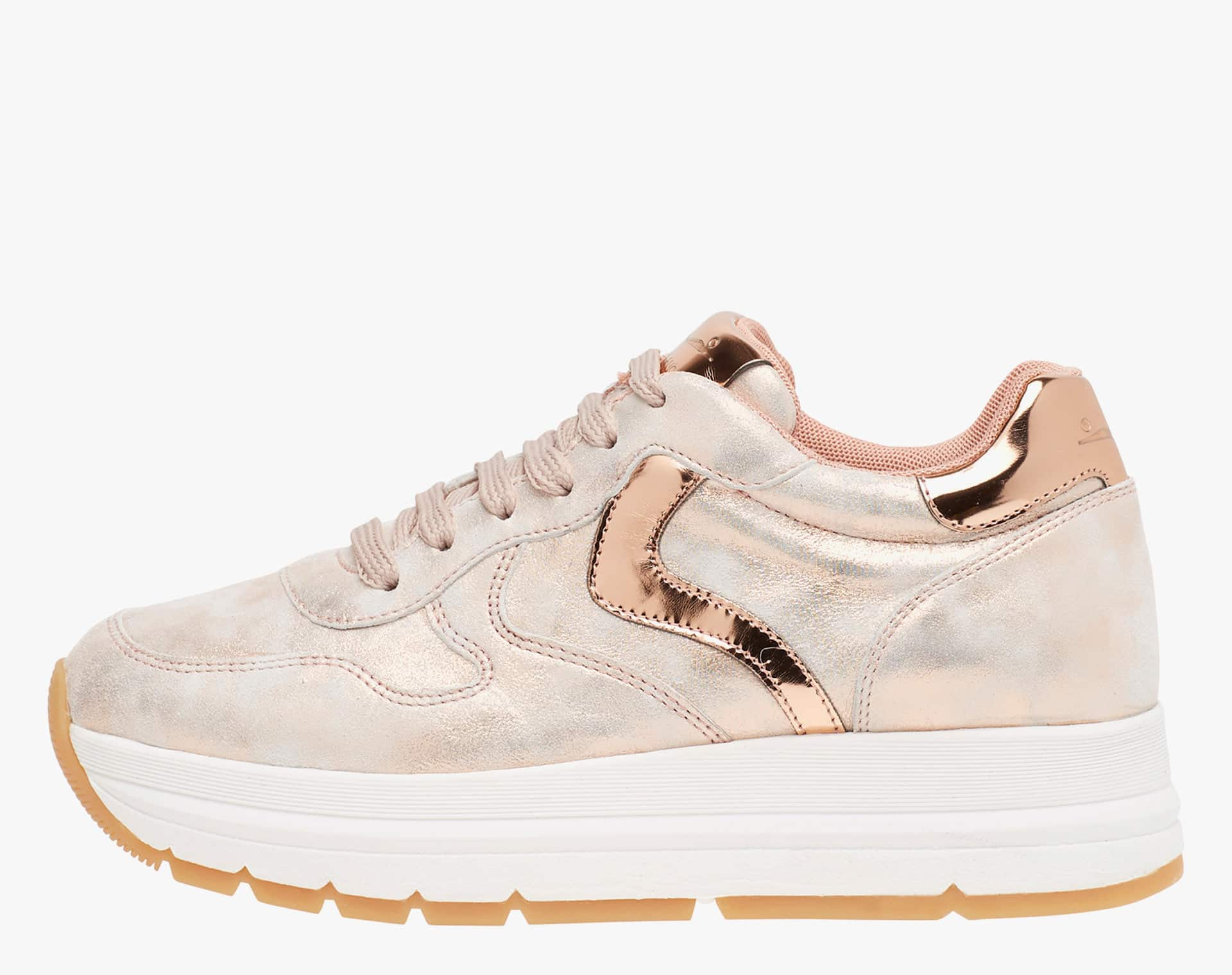 MARAN - Sneaker in vitello laminato ros� - Rosa