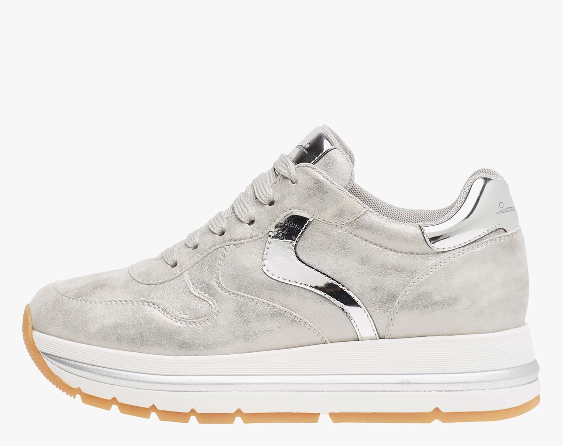 MARAN - Sneaker in vitello laminato argento - Argento