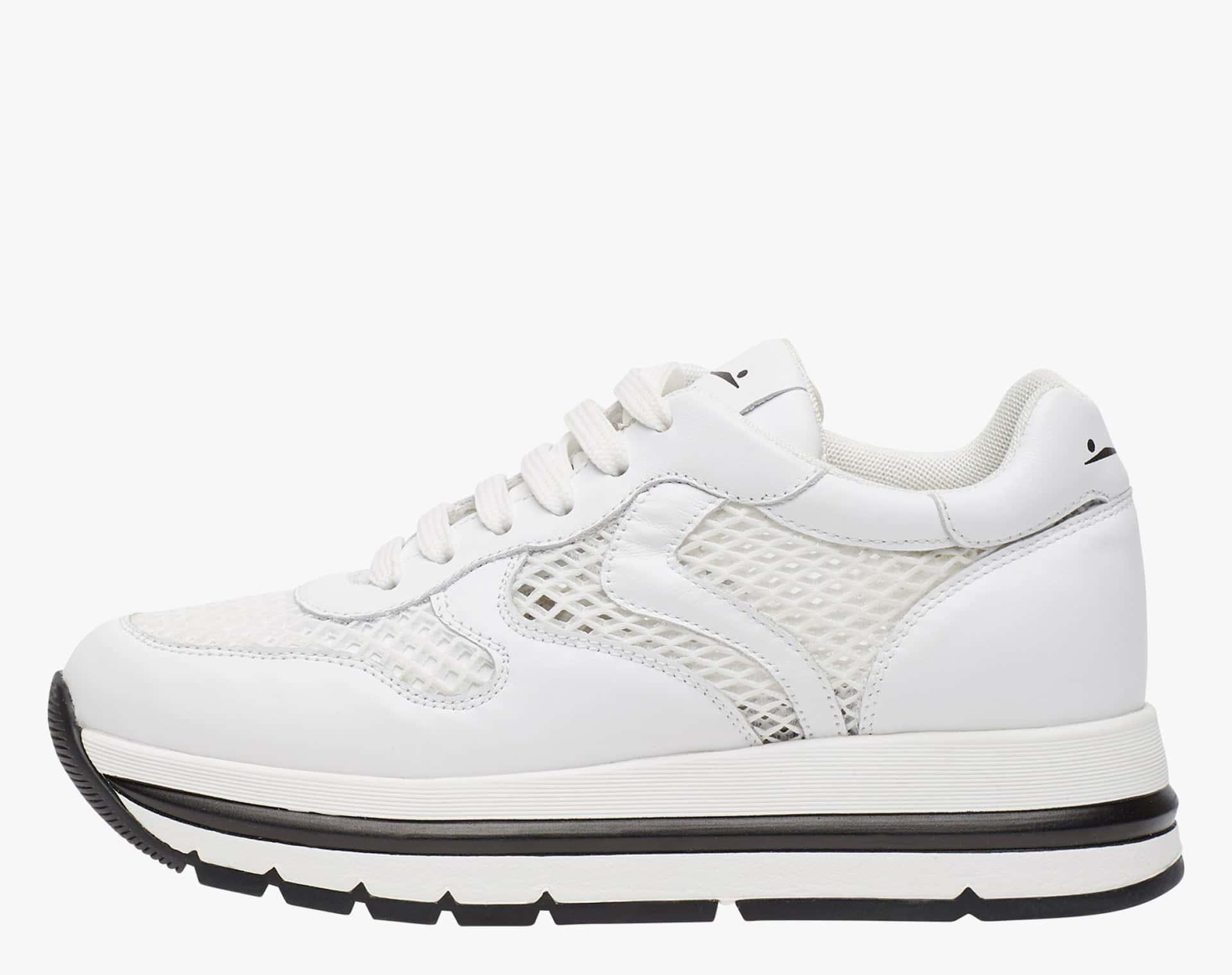 MARAN MESH - Sneaker in vitello e tessuto a rete - Bianco