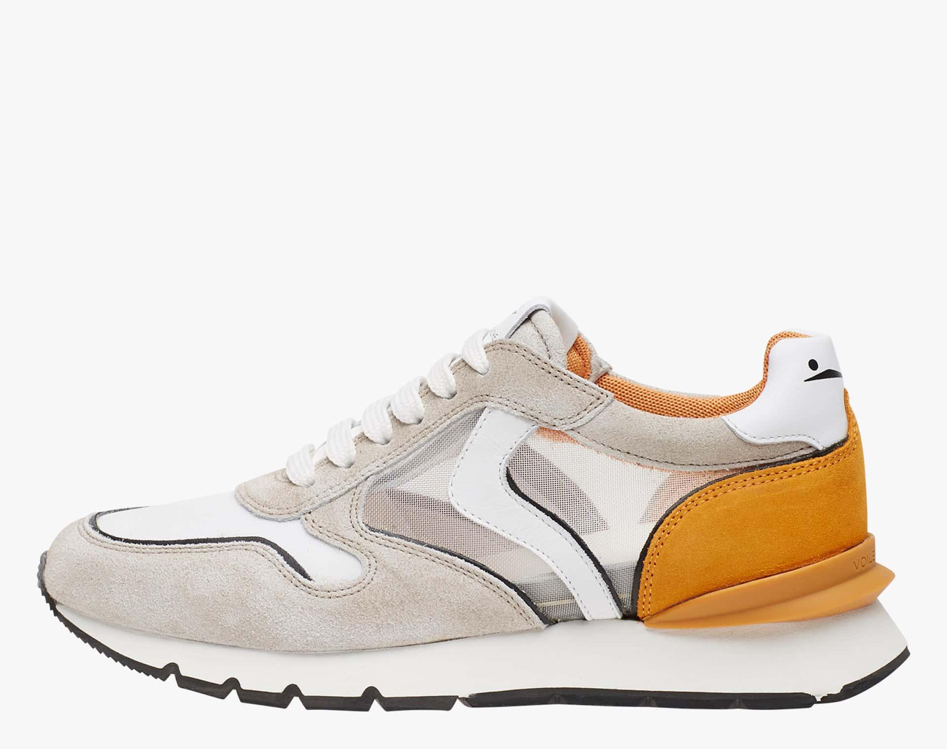 JULIA RACE MESH - Sneaker in suede con dettagli in micro rete - Sabbia