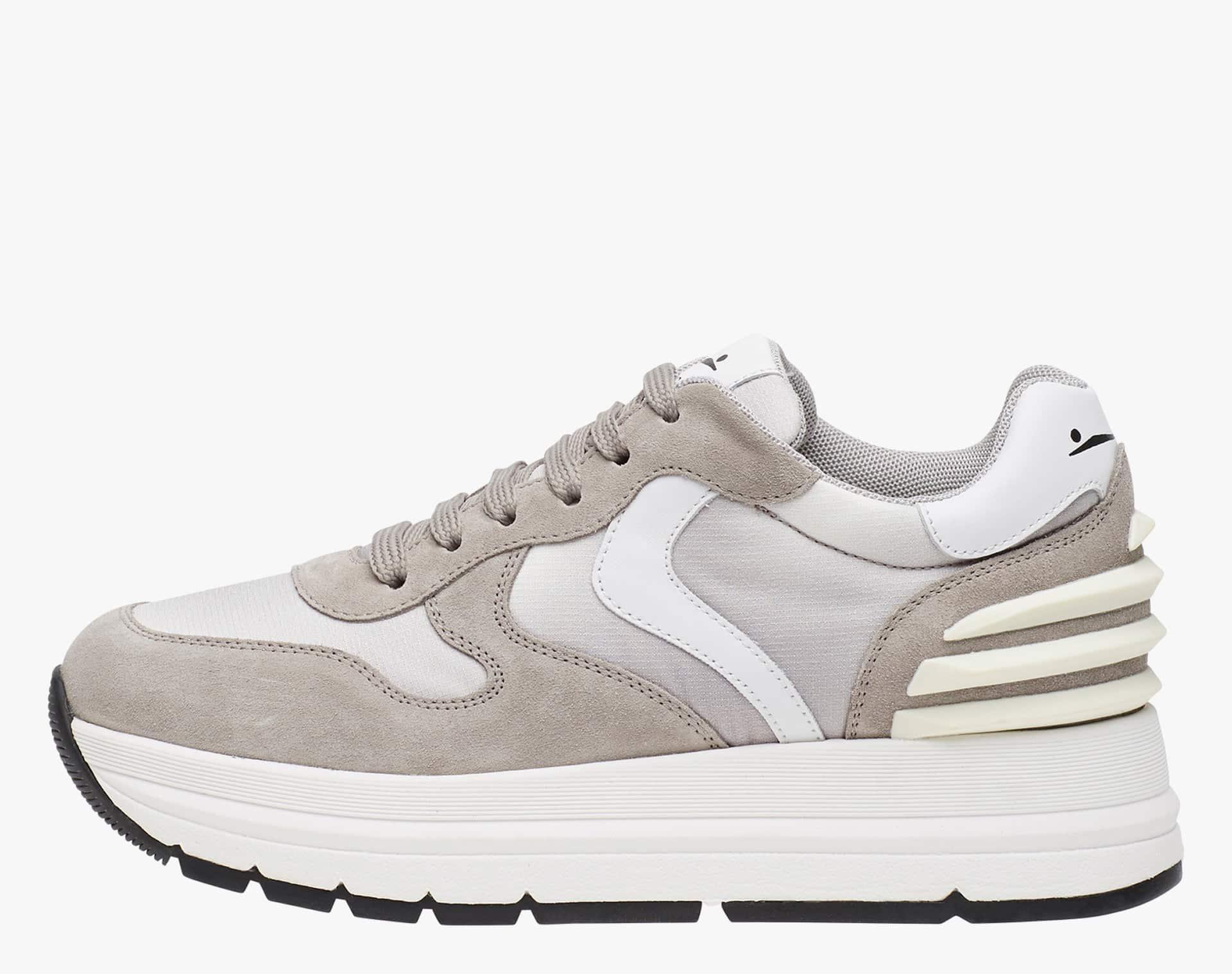 MARAN POWER - Sneaker in velour e tessuto tecnico - Tortora