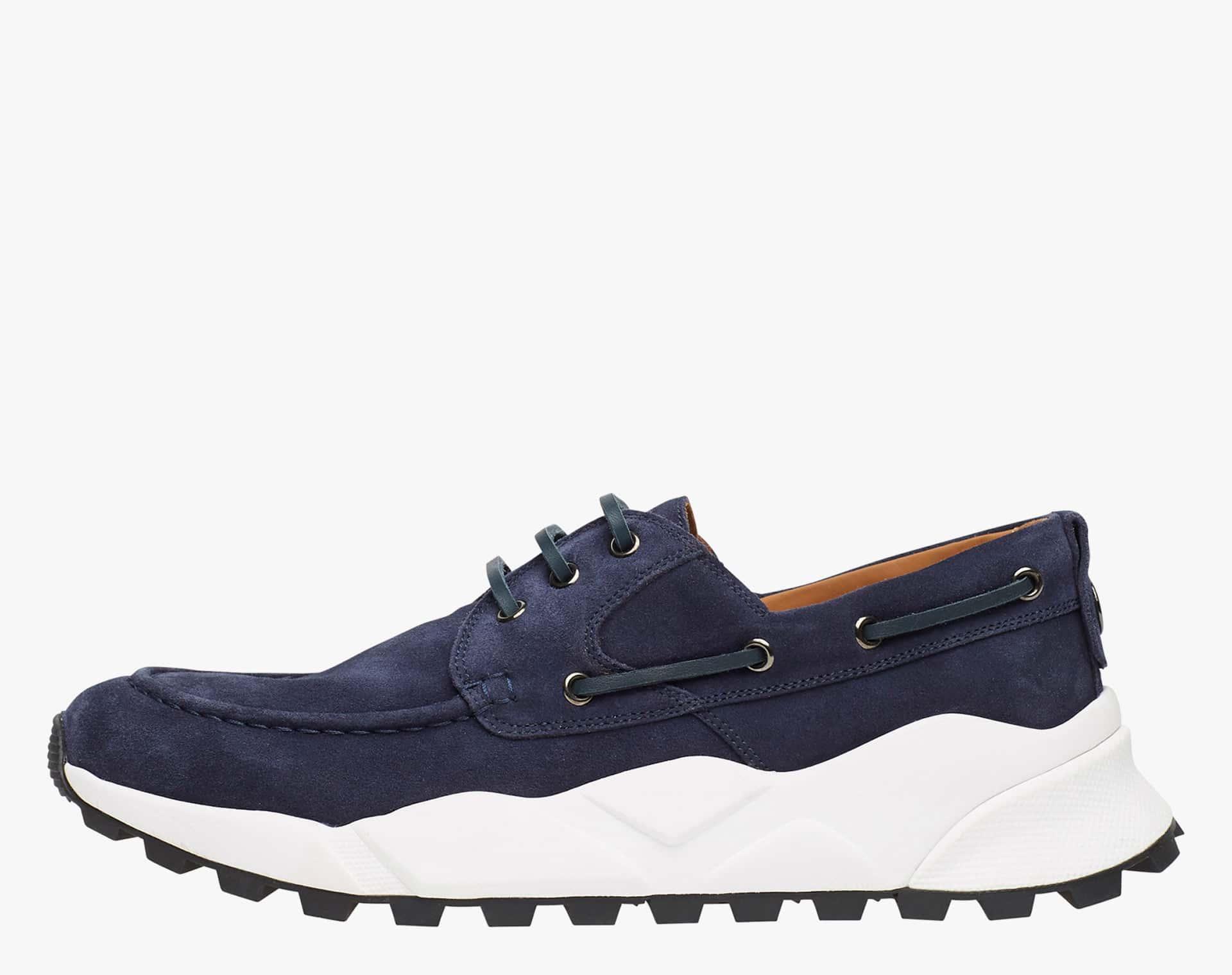 Sneaker sailor in suede Blu-EXTREEMER