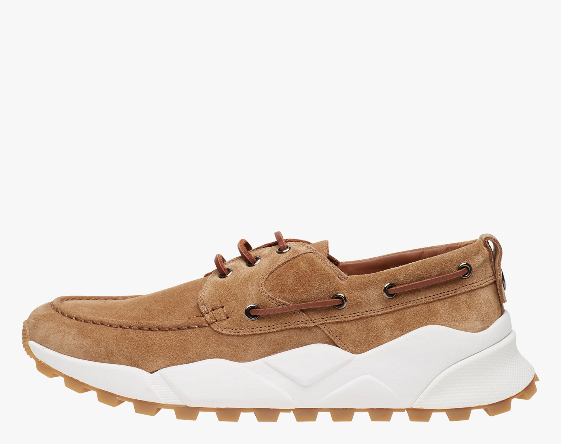 EXTREEMER - Sneaker sailor in suede - Tabacco
