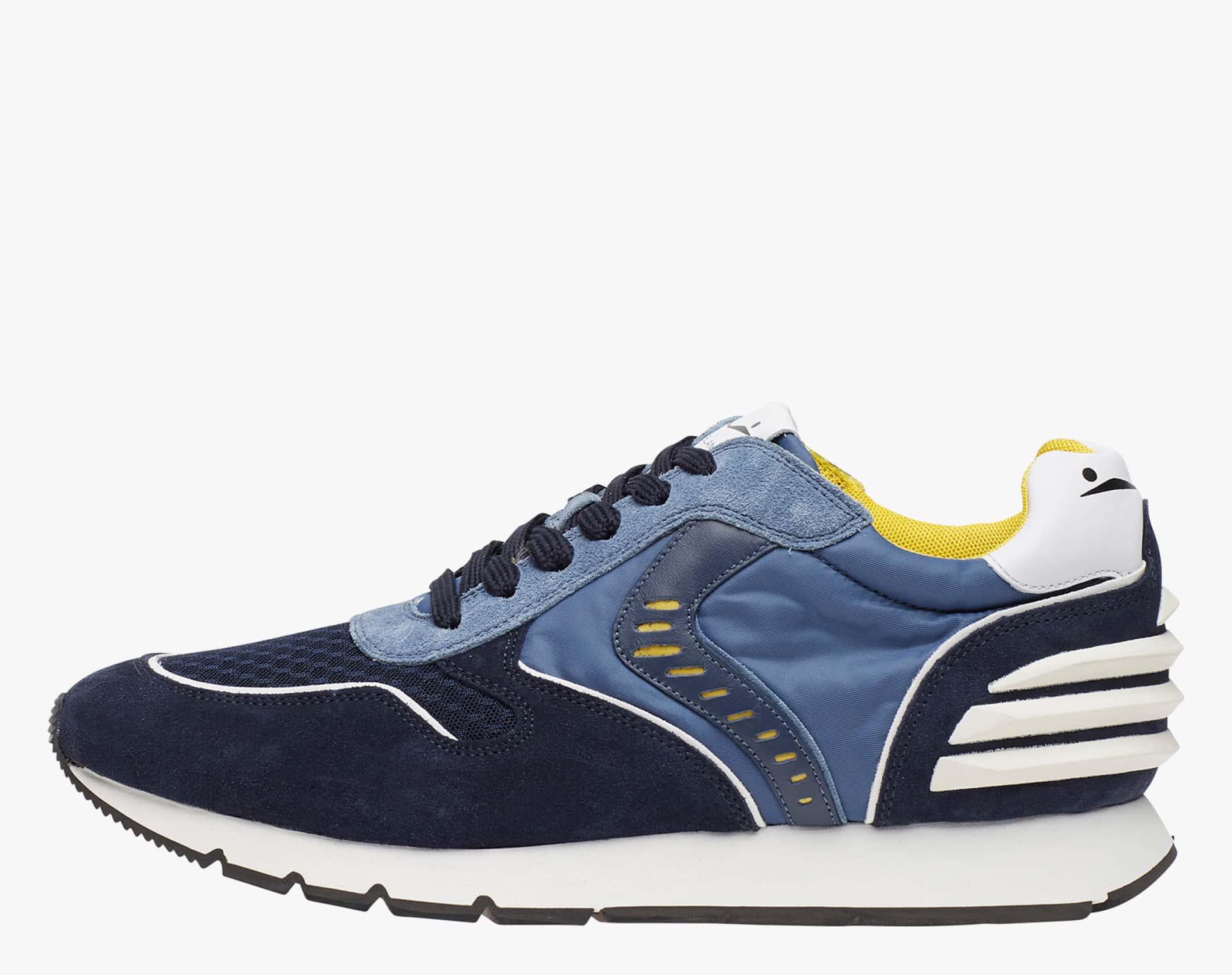 LIAM POWER II - Sneaker in suede e tessuto tecnico - Blu