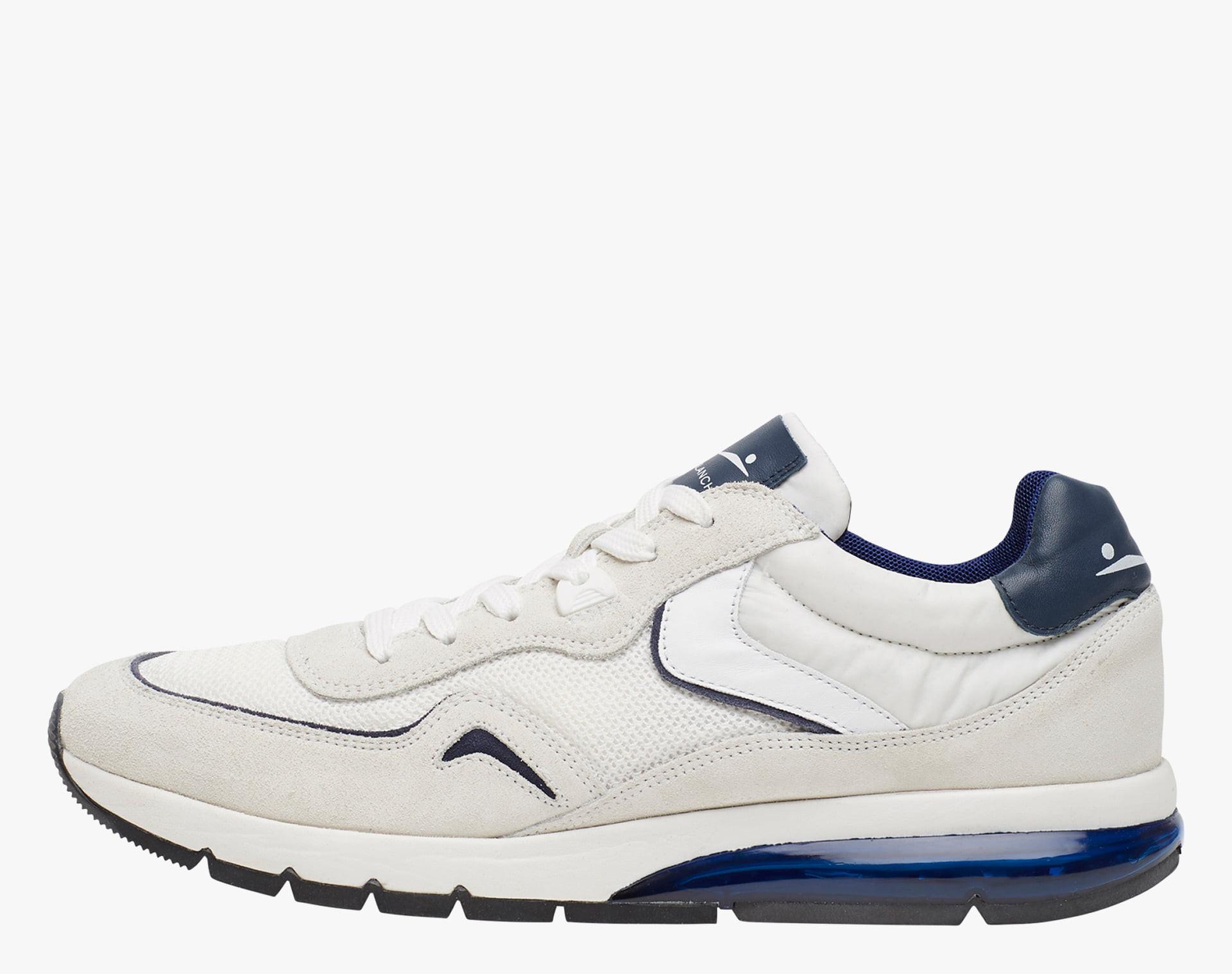 ENDAVOUR MESH - Sneaker in suede e tessuto tecnico - Bianco/Blu