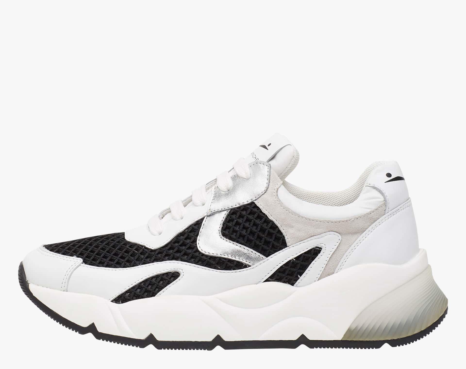DUMBIL - Sneaker in vitello e micro rete - Bianco