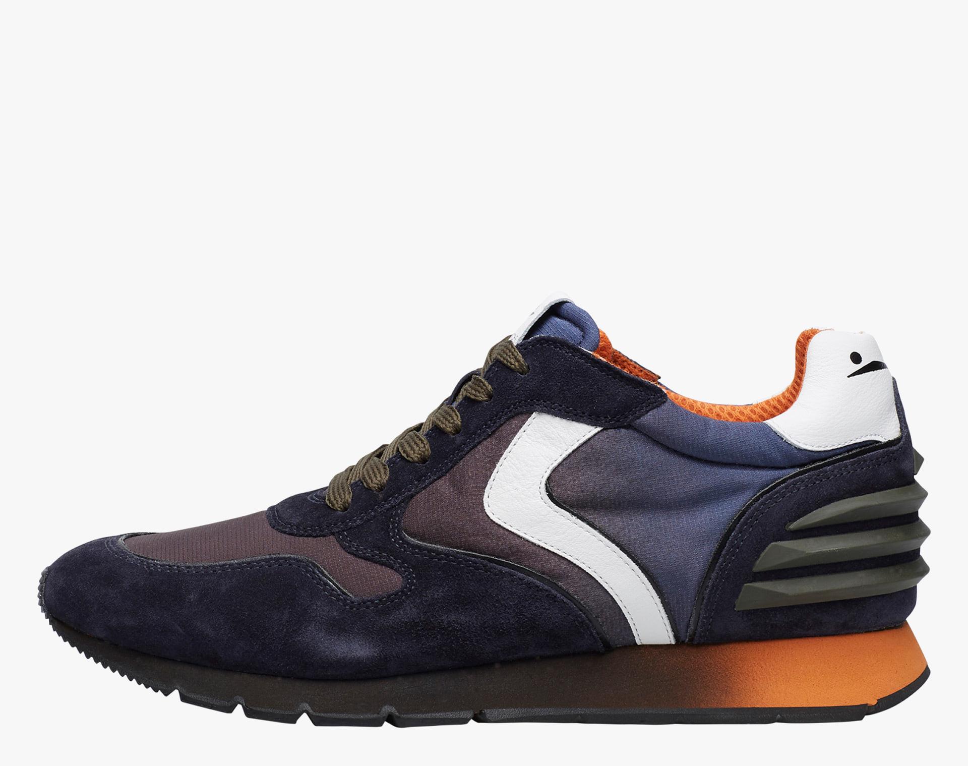LIAM POWER - Sneaker in suede e tessuto degrad� - Blu