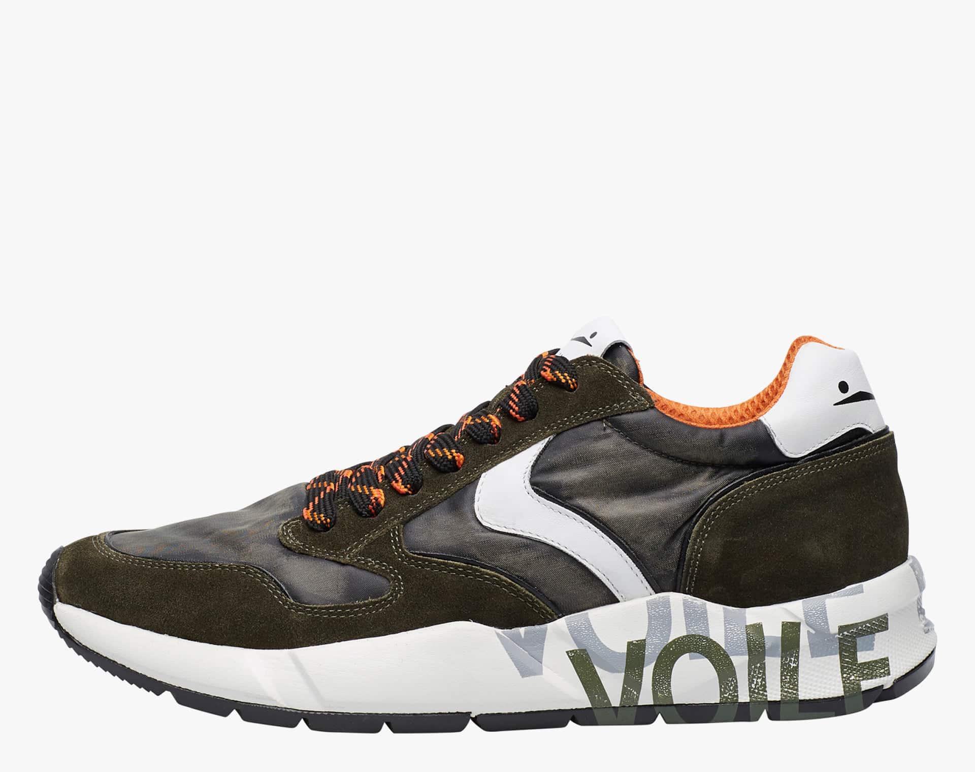 ARPOLH EASY - Sneaker in pelle e tessuto tecnico decolorato - Verde/Militare