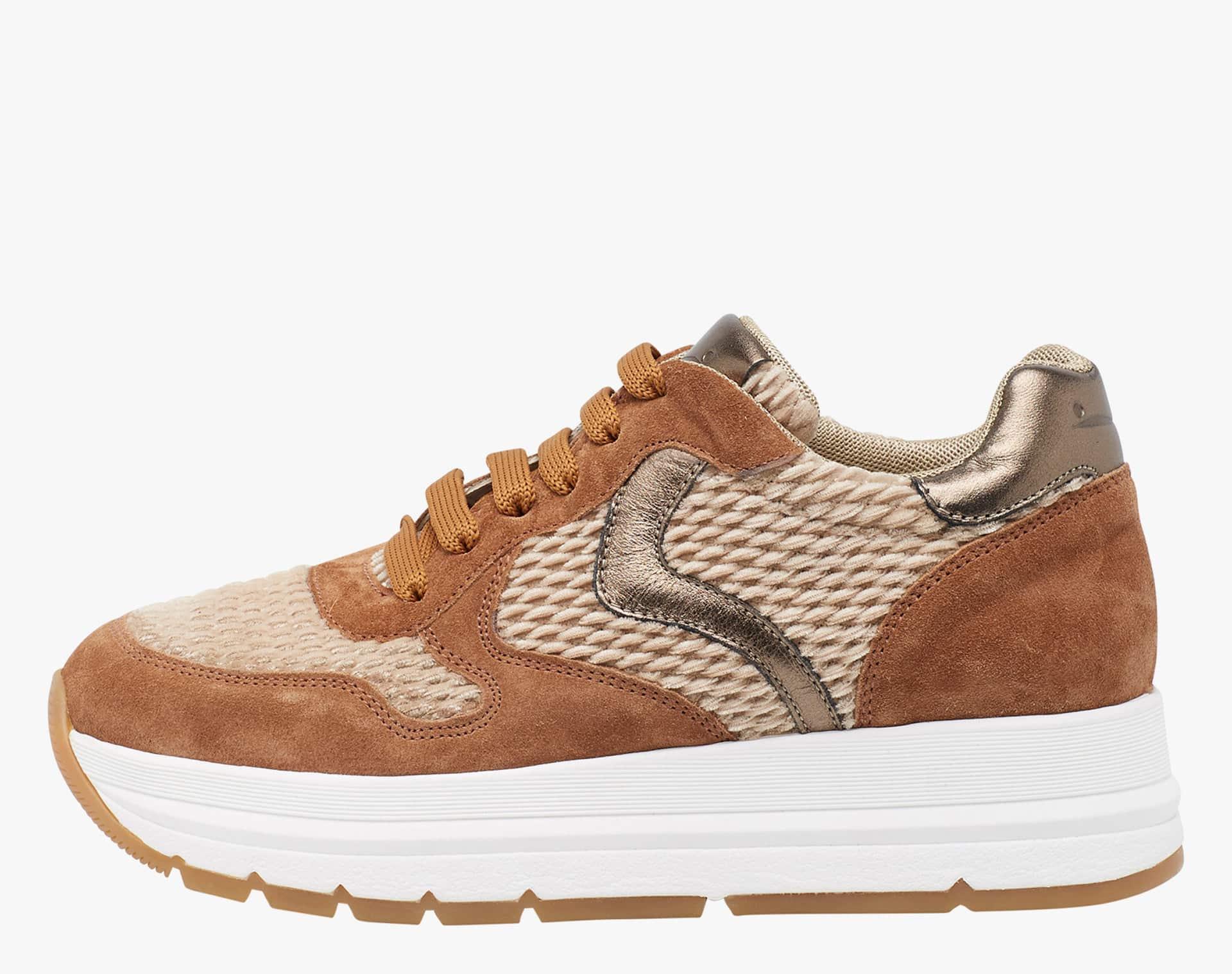 MARAN - Sneaker in pelle e velluto - Tortora