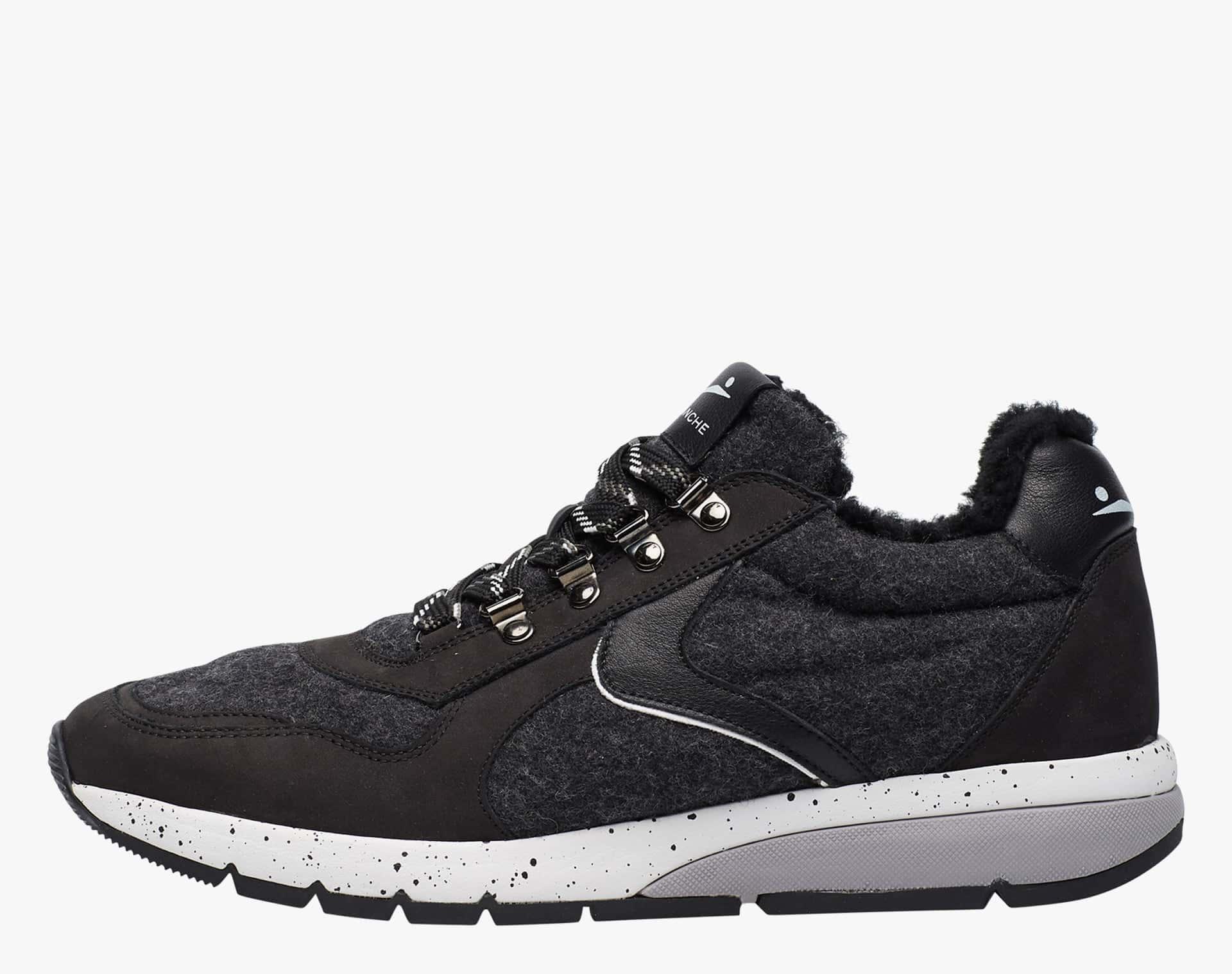 NEW LENNY HOOK FUR - Sneaker con dettagli trek - Nero/Antracite