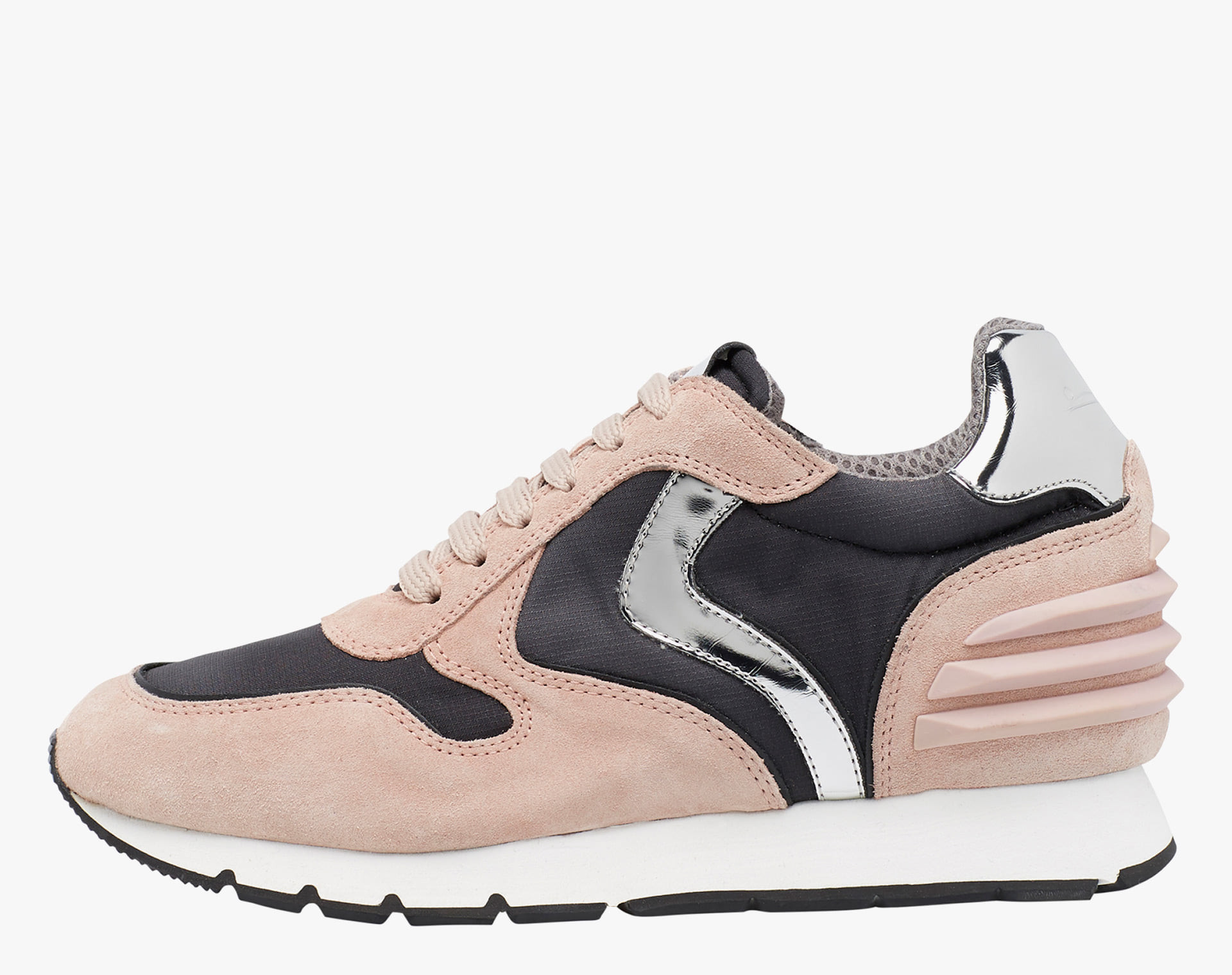 JULIA SLAM POWER - Sneaker in tessuto e pelle stampa pitone - Rosa/Nero