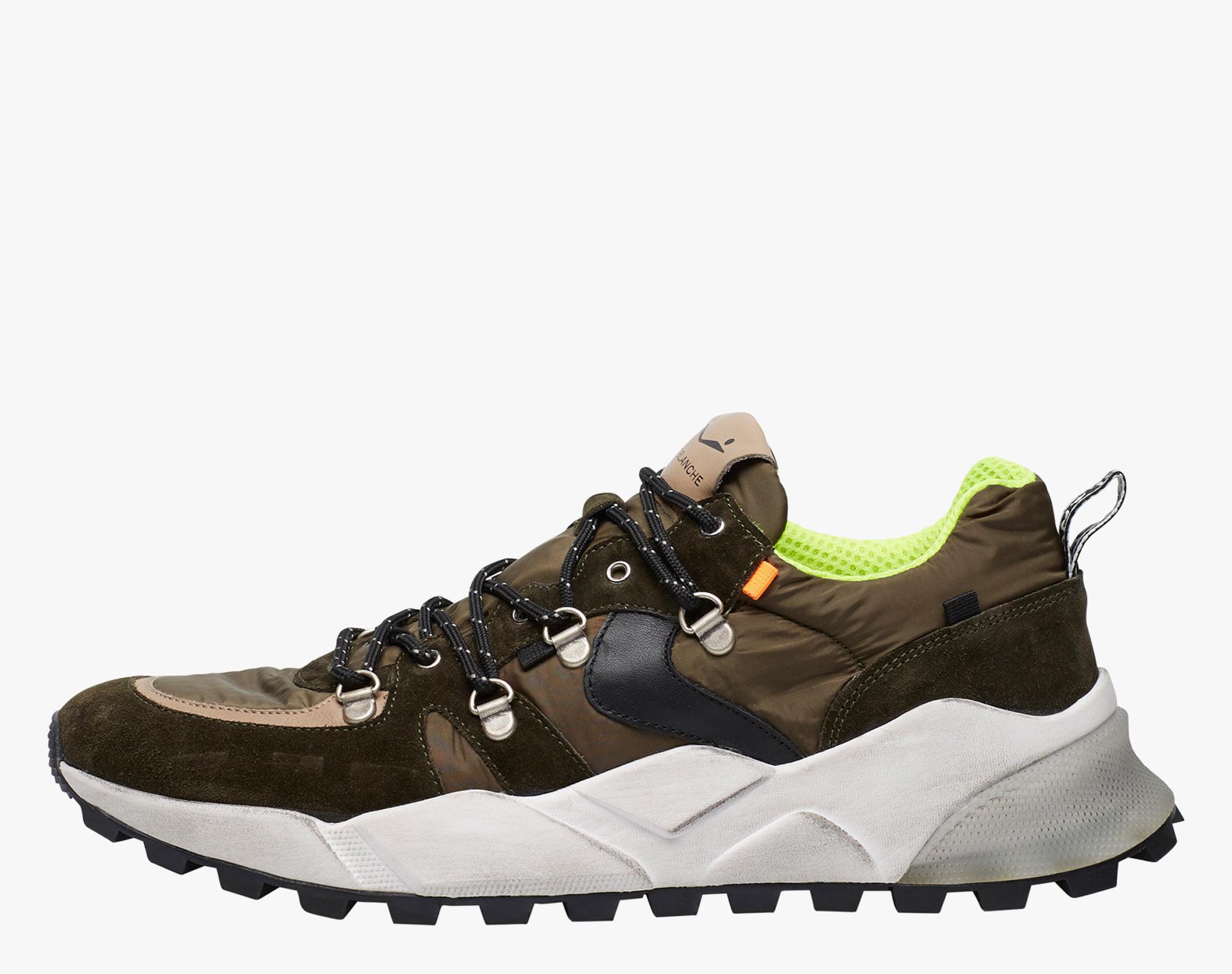 CLUB10 - Sneaker con occhielli metallici - Militare