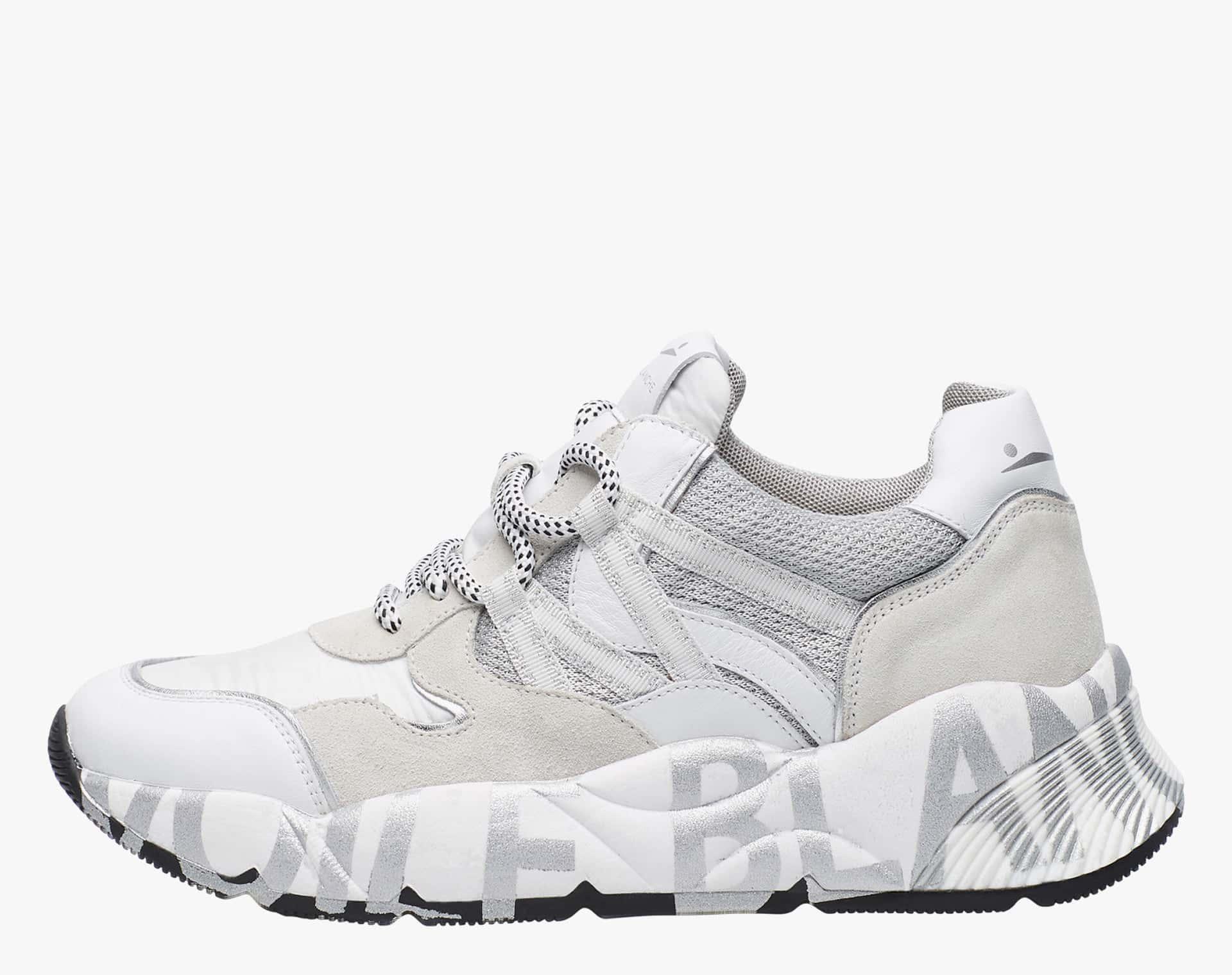CLUB100 - Sneaker in cordura e vitello - Bianco