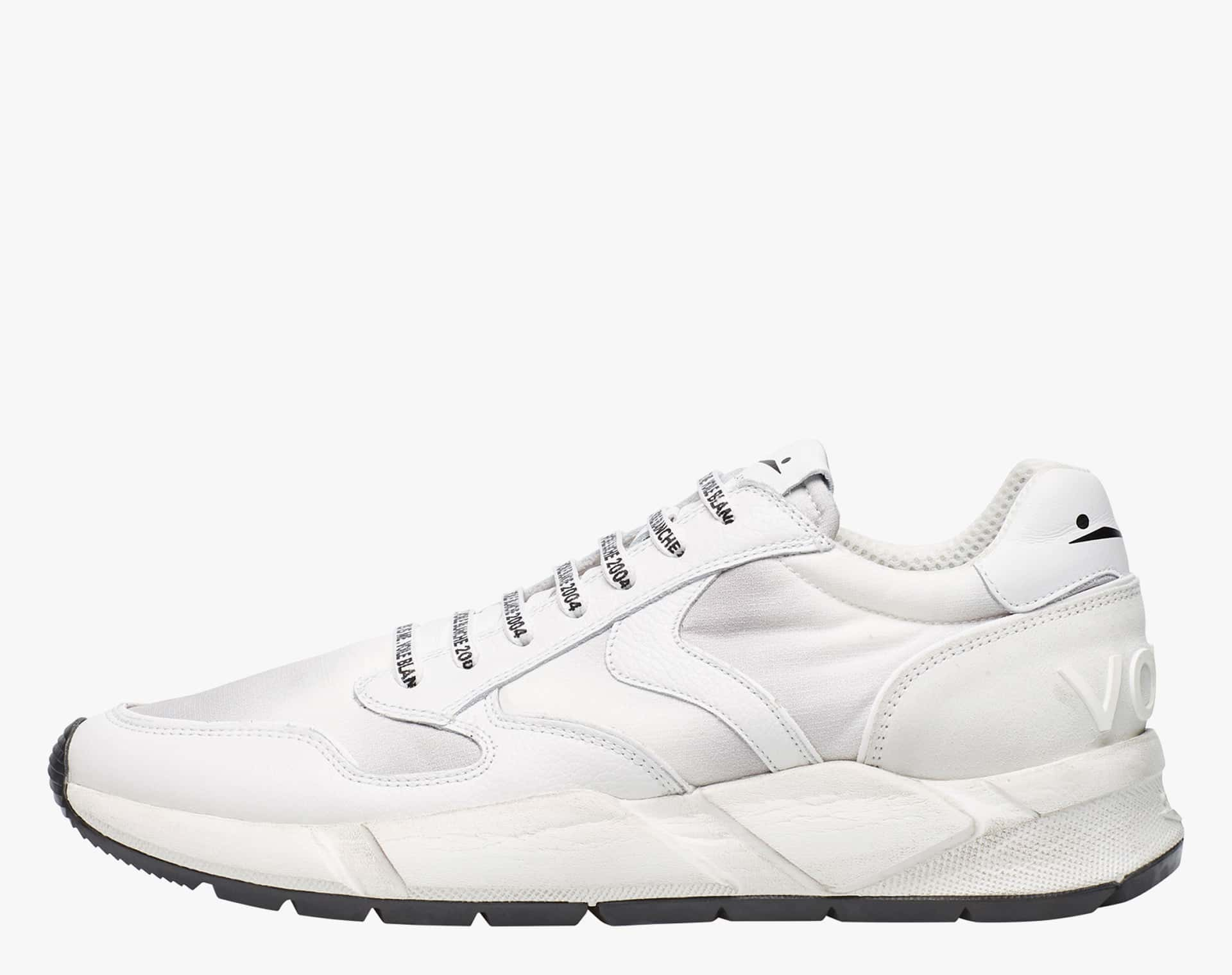 Sneaker in vitello e tessuto sfumato Bianco-ARPOLH