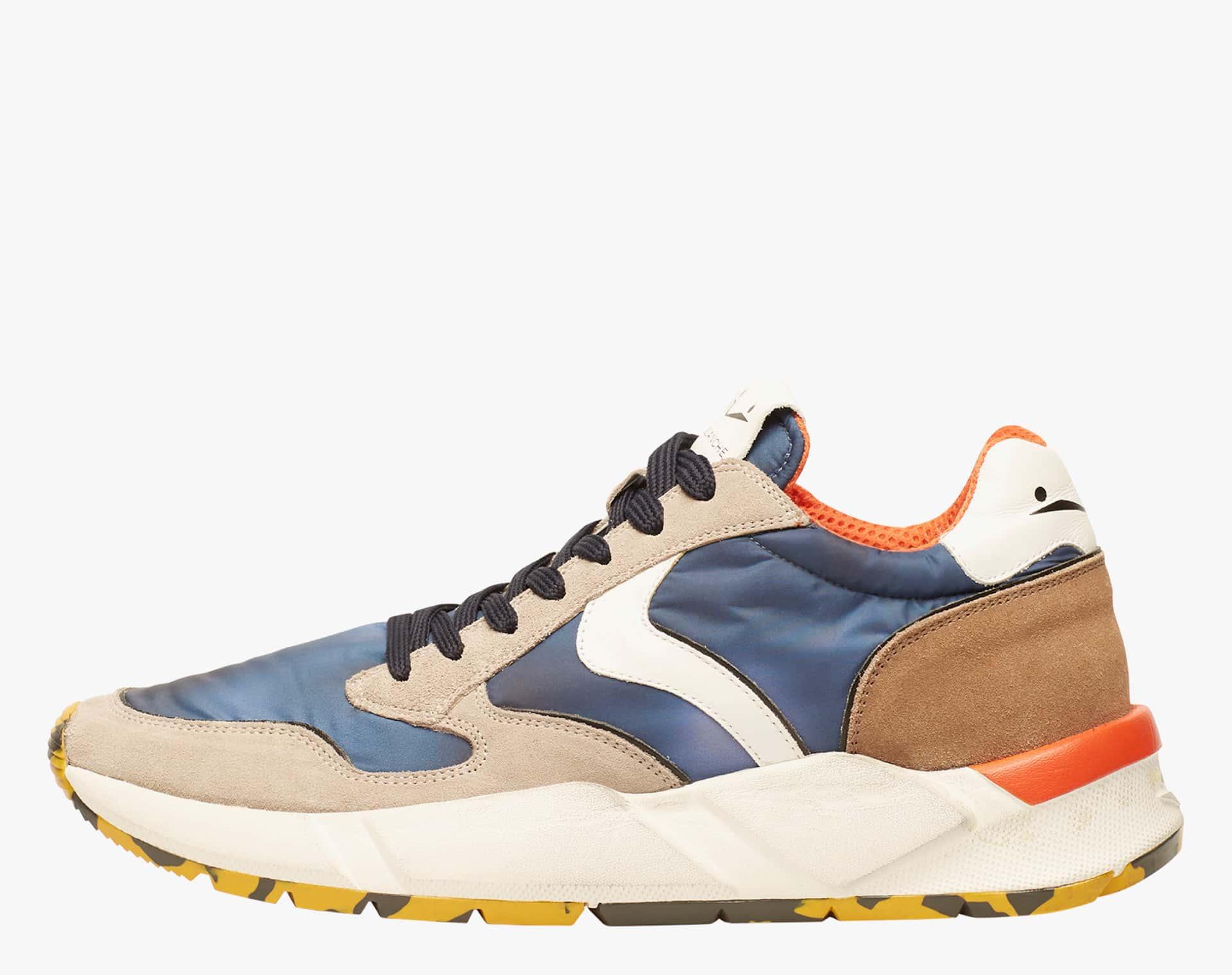 Sneaker in nabuk e nylon tecnico Multicolore-ARPOLH EASY