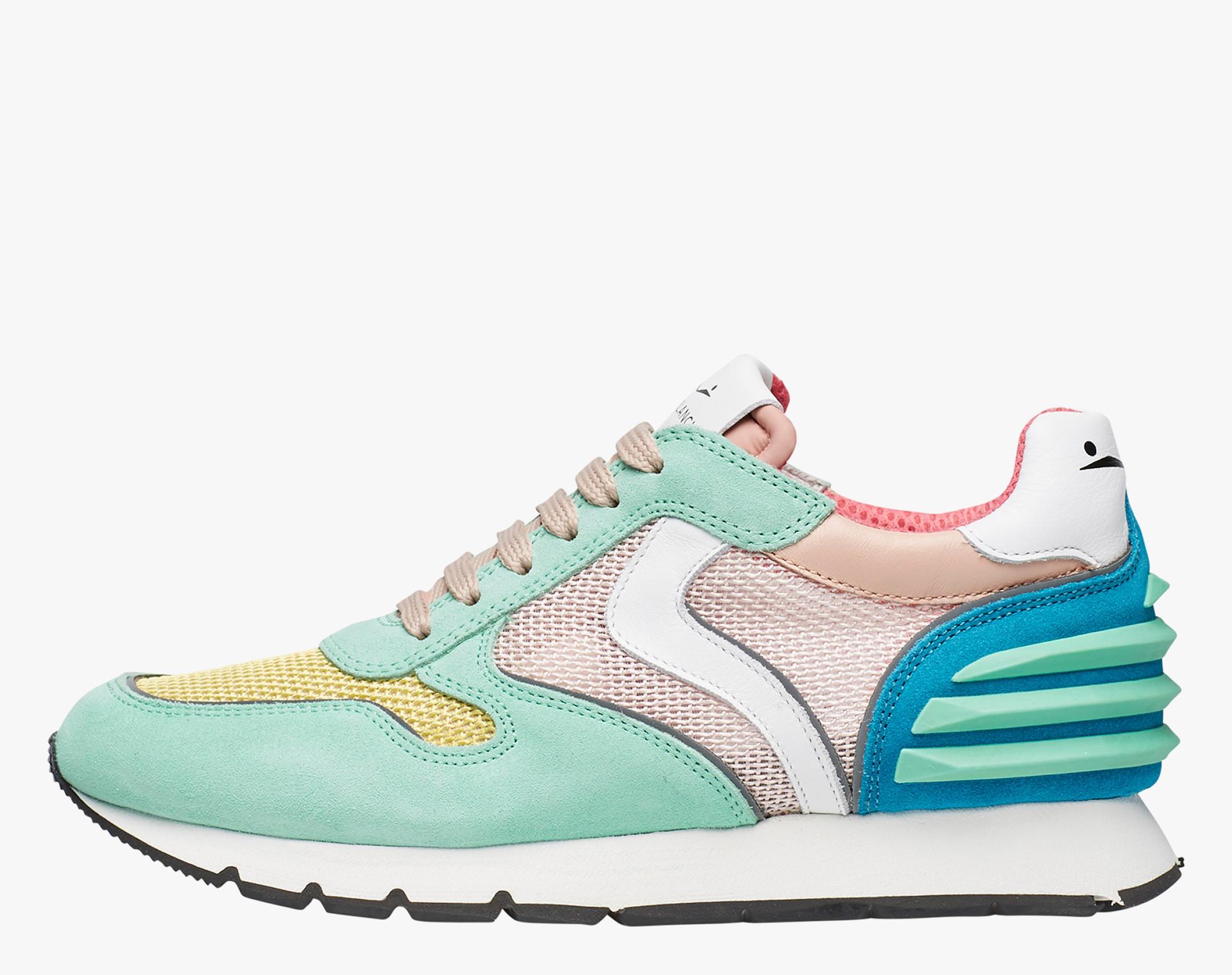 Sneaker in suede e micro rete Multicolore-JULIA POWER MESH