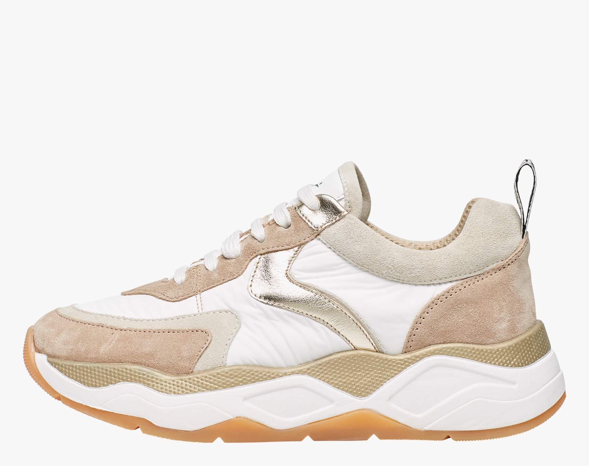 Sneaker in tessuto tecnico e suede Bianco-BEA