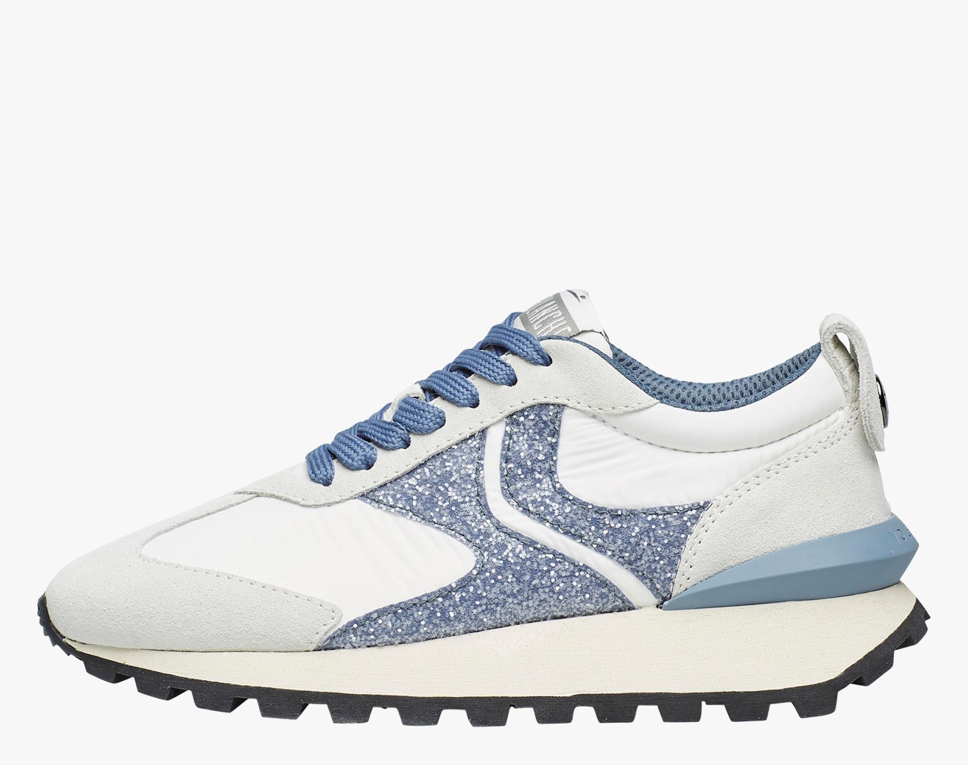 Sneaker in tessuto tecnico, suede e pelle Bianco-QWARK WOMAN