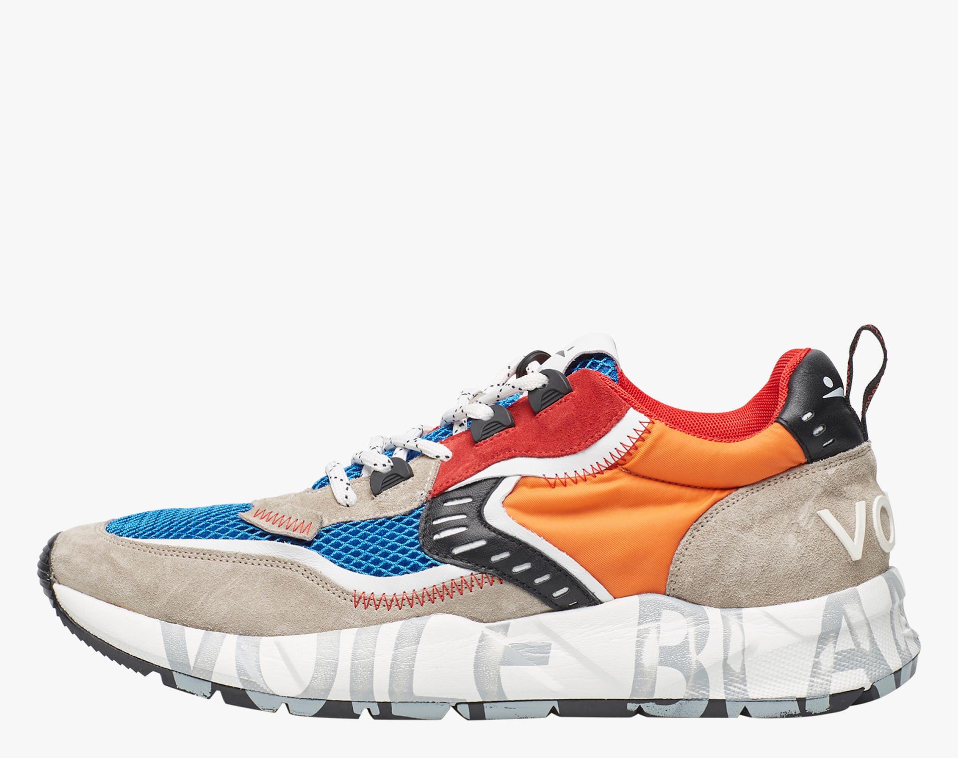Sneaker in suede e mesh tecnico Multicolore-CLUB01