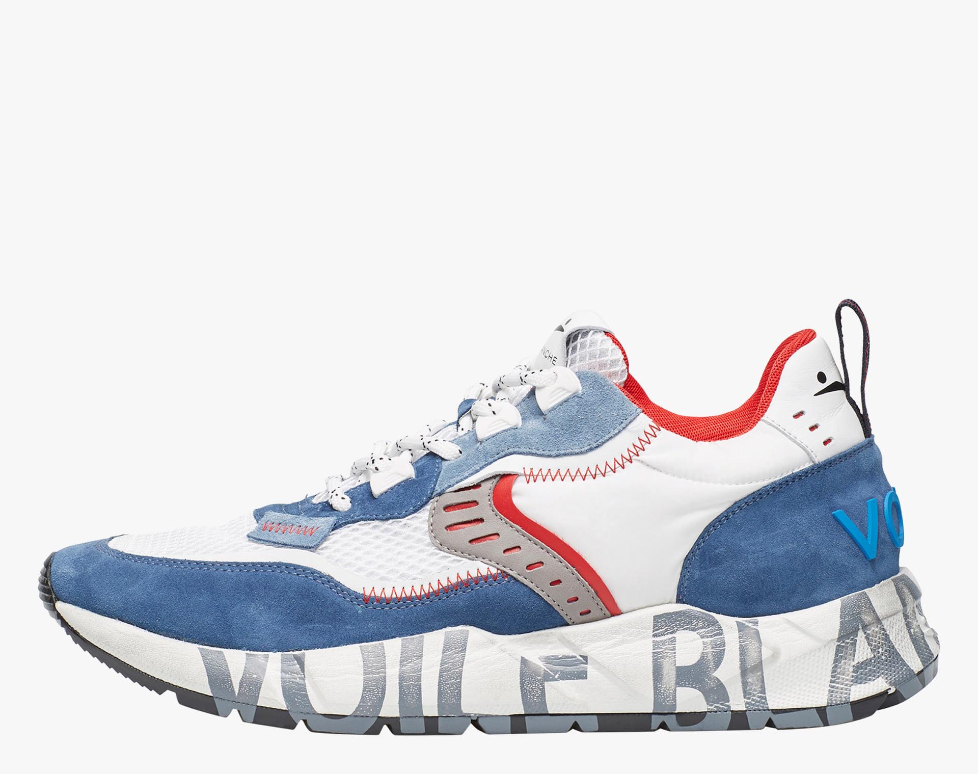 Sneaker in suede e mesh tecnico Blu chiaro-CLUB01