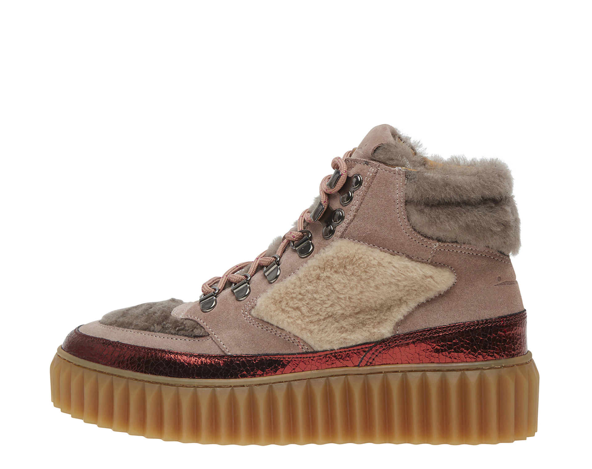 EVA HIKE - SNEAKERS IN PELLE, VELOUR E SHEARLING - CIPRIA