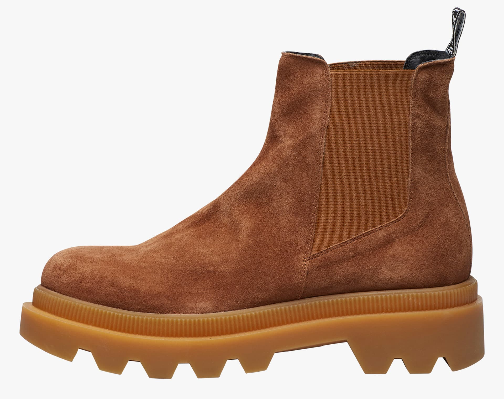 ALFRED 04 BIS - Chelsea boot in suede - Cuoio