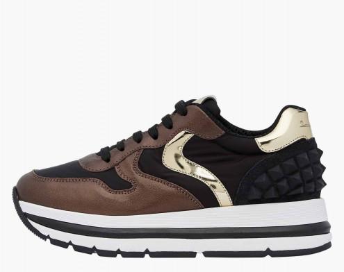 MARAN S - Sneaker in nappa con studs - Nero