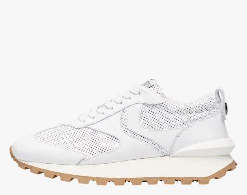 QWARK MAN - Sneaker in vitello liscio e perforato - Bianco