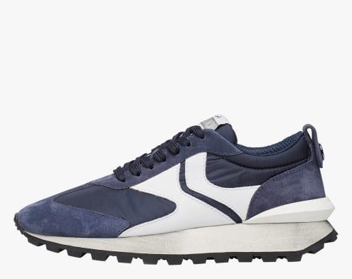 QWARK MAN - Sneaker in tessuto tecnico, suede e pelle - Blu
