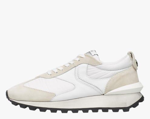 QWARK MAN - Sneaker in tessuto tecnico, suede e pelle - Bianco