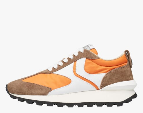 QWARK MAN - Sneaker in tessuto tecnico, suede e pelle - Multicolore