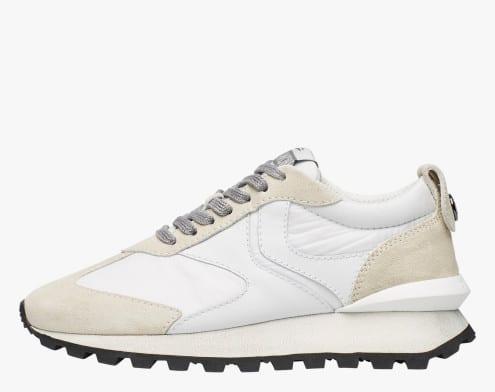 QWARK WOMAN - Sneaker in tessuto tecnico, suede e pelle - Grigio