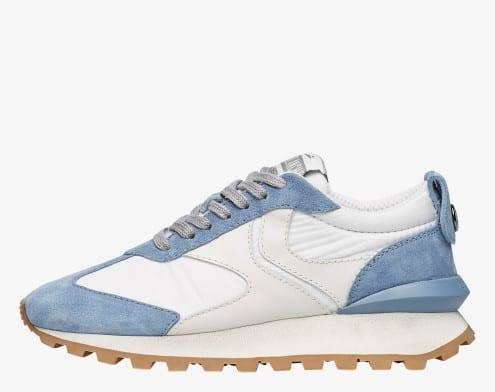 QWARK WOMAN - Sneaker in tessuto tecnico, suede e pelle - Blu