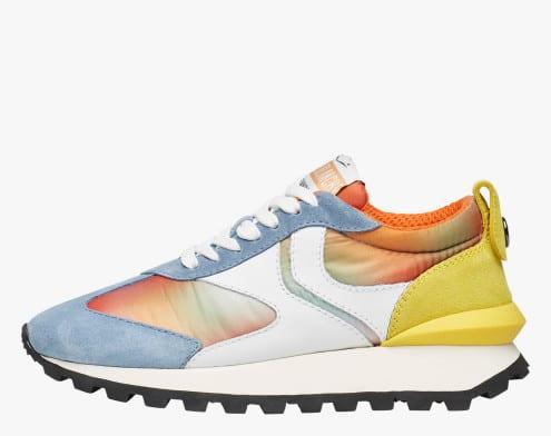 QWARK WOMAN - Sneaker in tessuto tecnico, suede e pelle - Multicolore