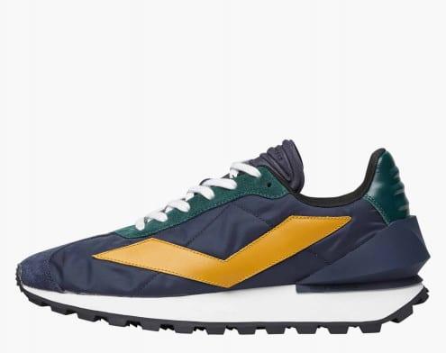 QWARK SPUR MAN. - Sneaker in tessuto tecnico e vitello - Navy