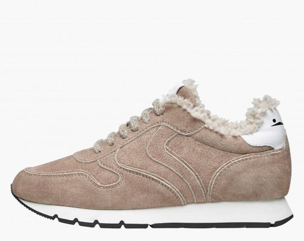 JULIA FUR - Shearling-lined sneakers - Beige