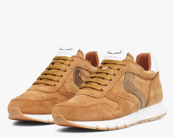 JULIA - Suede sneakers - Cognac