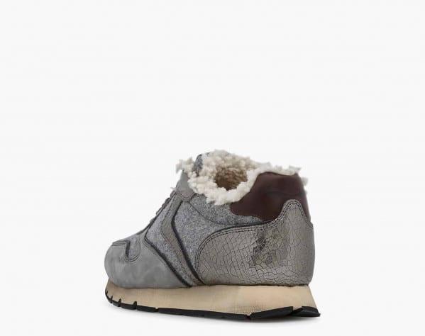 JULIA FUR - Sheepskin lined sneaker - Grey