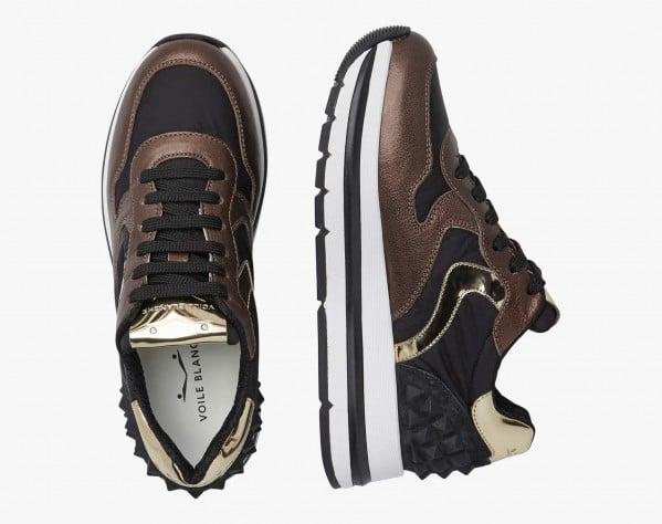 MARAN STUDS - Nappa leather sneaker with studs - Black