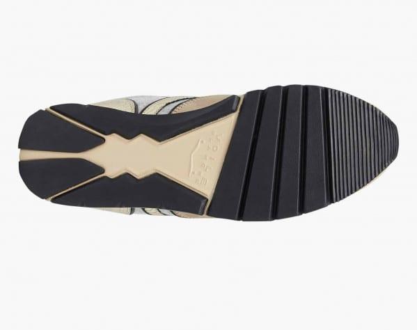 JULIA FUR - Shearling-lined sneakers - Beige/Grey