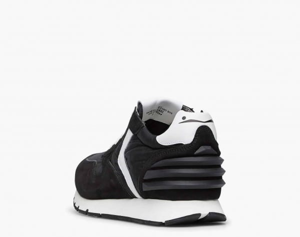 LIAM POWER - Suede and technical fabric sneakers - Black