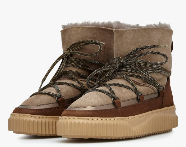 CORTINA - Natural sheepskin ankle boots - Brown