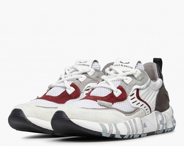 CLUB01. - Suede and mesh sneakers - White
