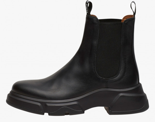 TANKY BEAT - Leather ankle boots - BLACK
