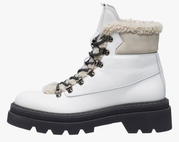 TWEED 04 - Casual boot - White